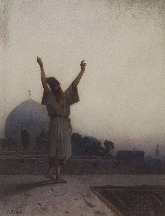 Muslim on Housetop at Prayer