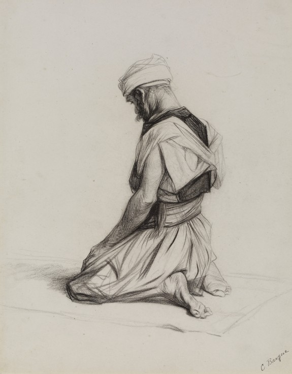 Arab Kneeling in Prayer