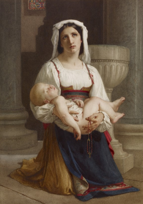 Italian Peasant Kneeling with Child