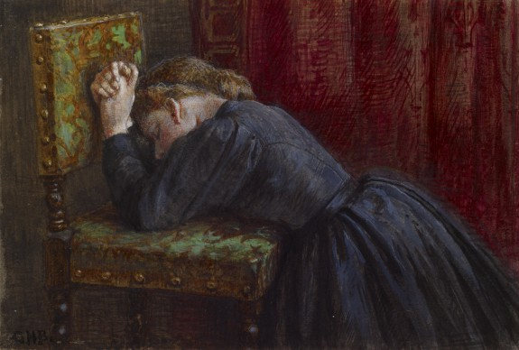 Woman Kneeling In Prayer