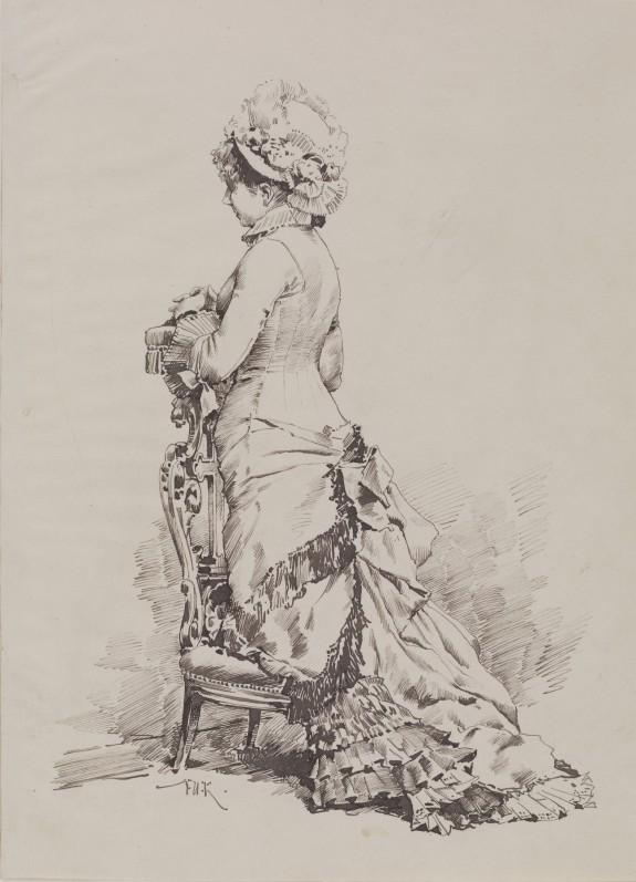 Fashionable Woman at Prayer