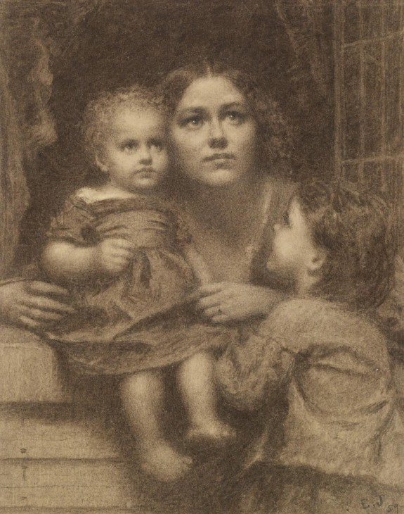 Woman with Two Children by a Window