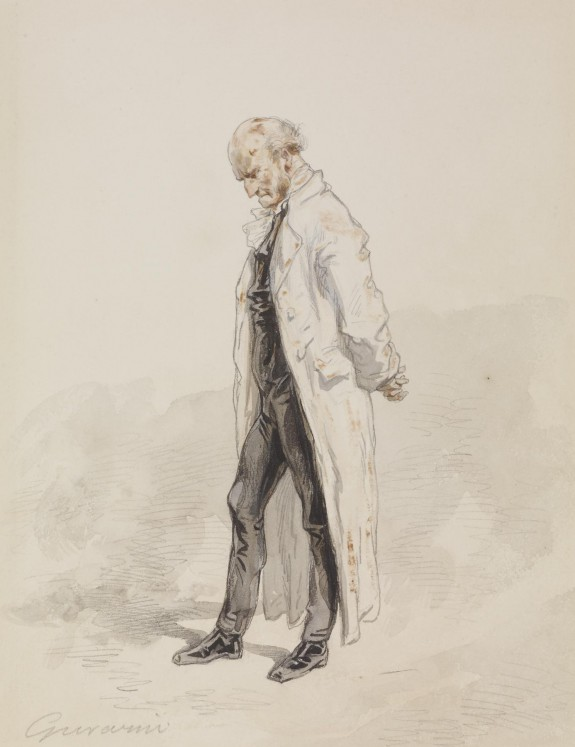 Old Man in a White Coat