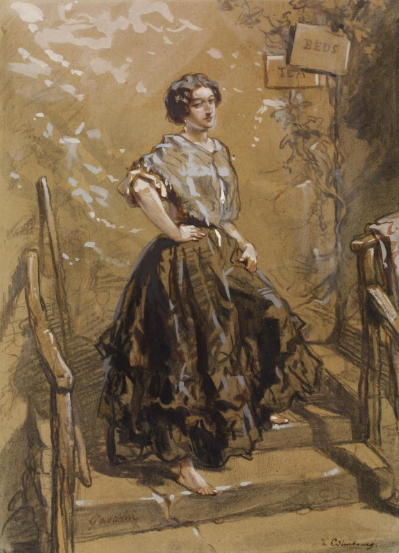 Young Woman Standing on Steps