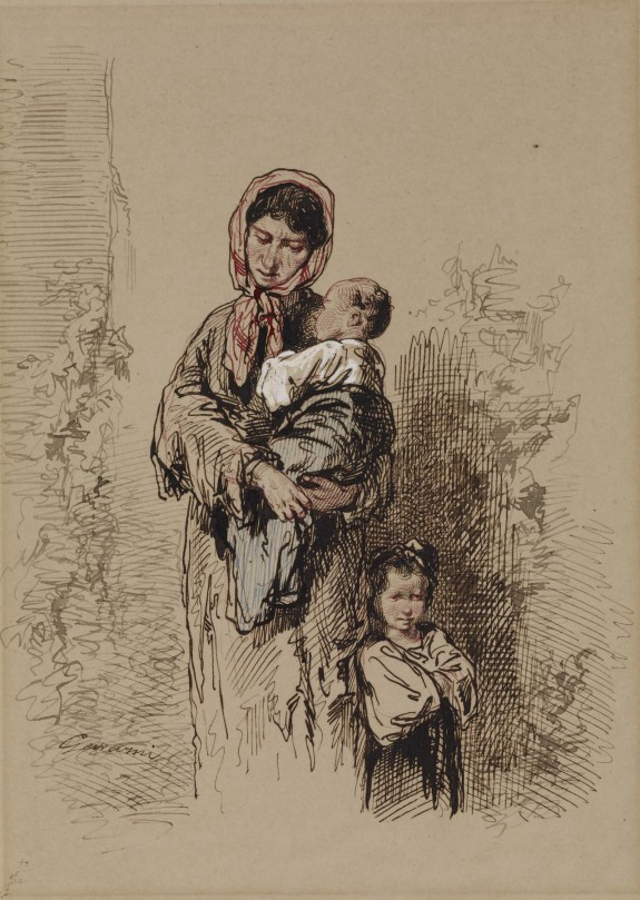 Peasant Woman with Two Young Children