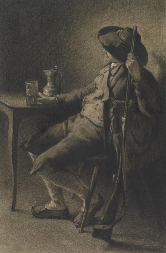 Huntsman Having a Glass of Ale