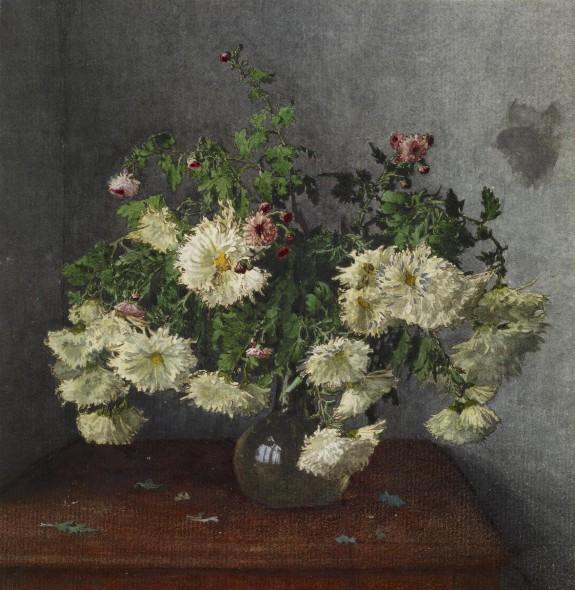 Still Life with Vase of Chrysanthemus