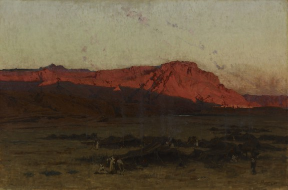 View of North Africa at Dawn