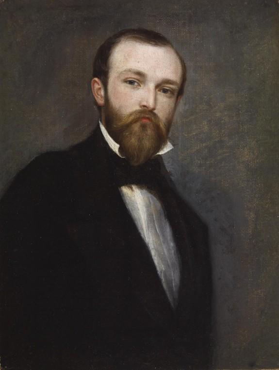 Self-Portrait in a Black Coat