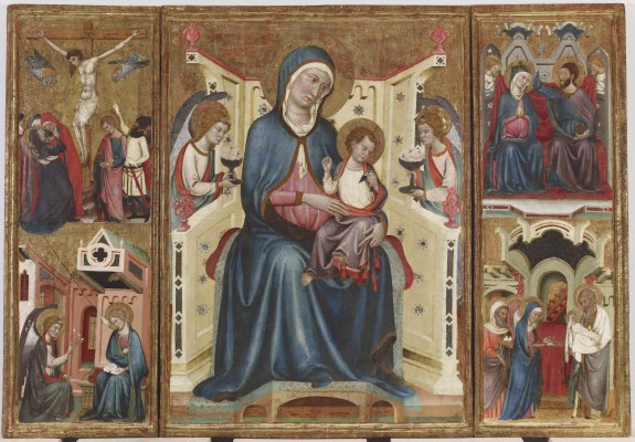 Virgin and Child, with the Crucifixion and the Annunciation, and the Coronation of the Virgin and the Presentation in the Temple