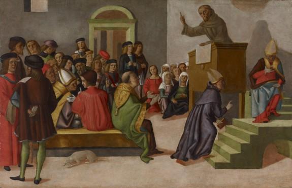 A Franciscan Monk Preaching
