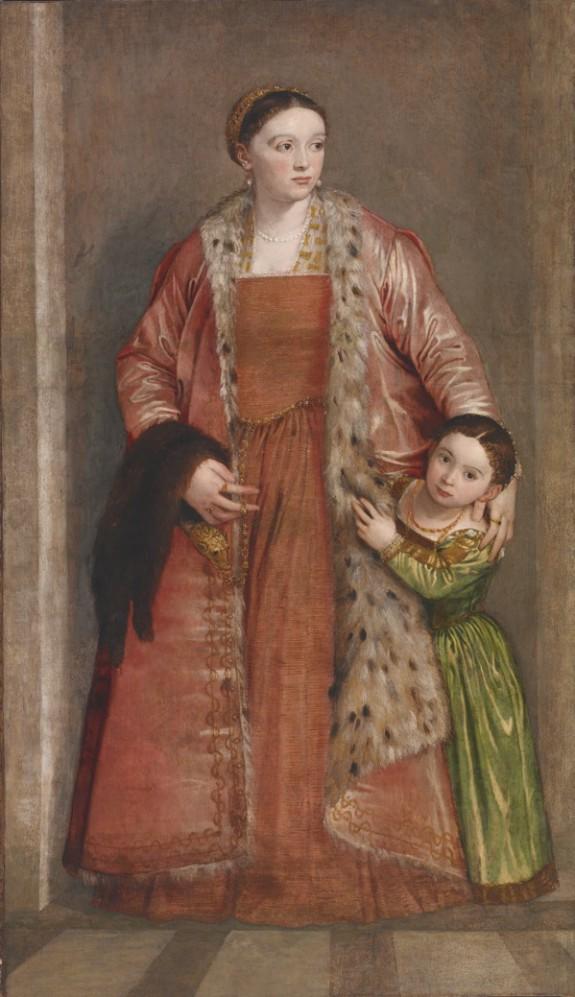 Portrait of Countess Livia da Porto Thiene and her Daughter Deidamia
