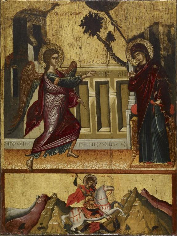 Annunciation, Saint George Killing the Dragon