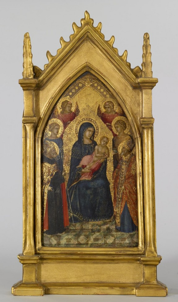 Virgin and Child with Saints Augustine, Nicholas (?), Catherine (?), Lucy, and Angels