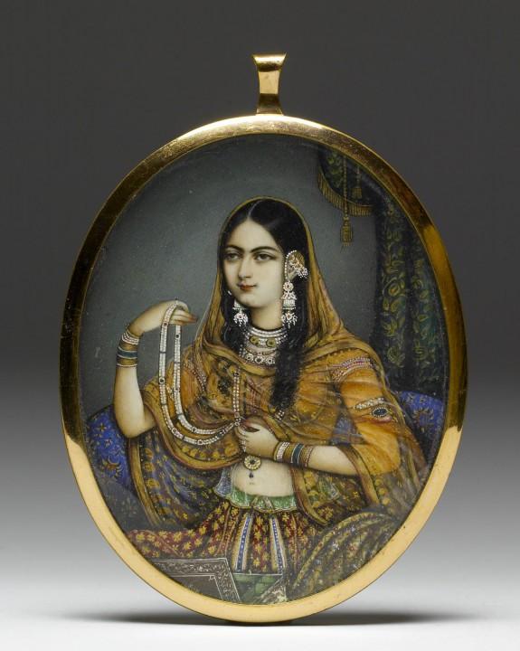 Portrait Miniature of an Indian Courtesan