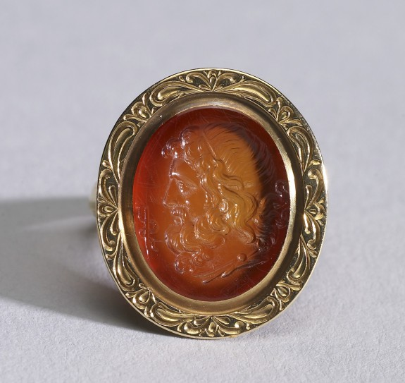 Ring with Intaglio Showing Head of Asclepius