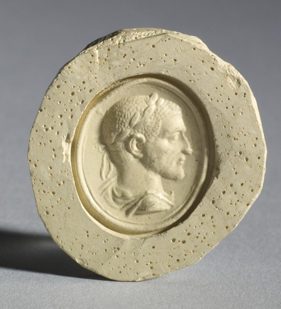Intaglio with Laureate Bust of Volusian