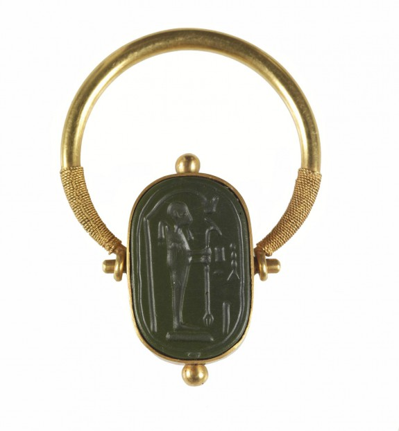 Intaglio with Ptah and the Name Amun-Re Set in a Swivel Ring