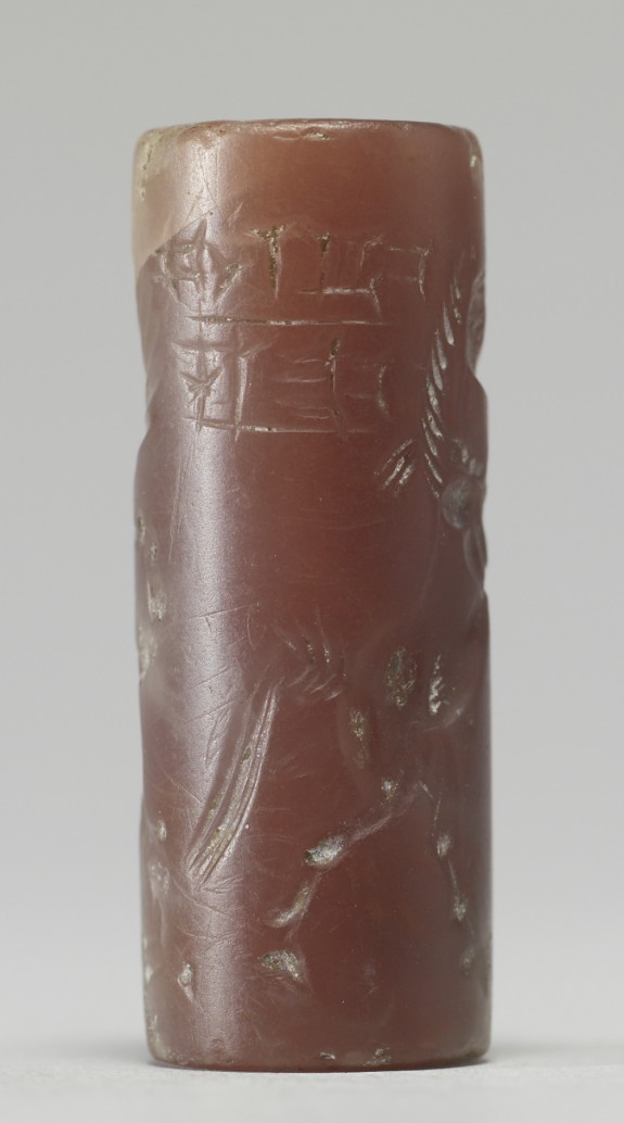 Cylinder Seal with Human-Headed Griffin Attacking a Horse