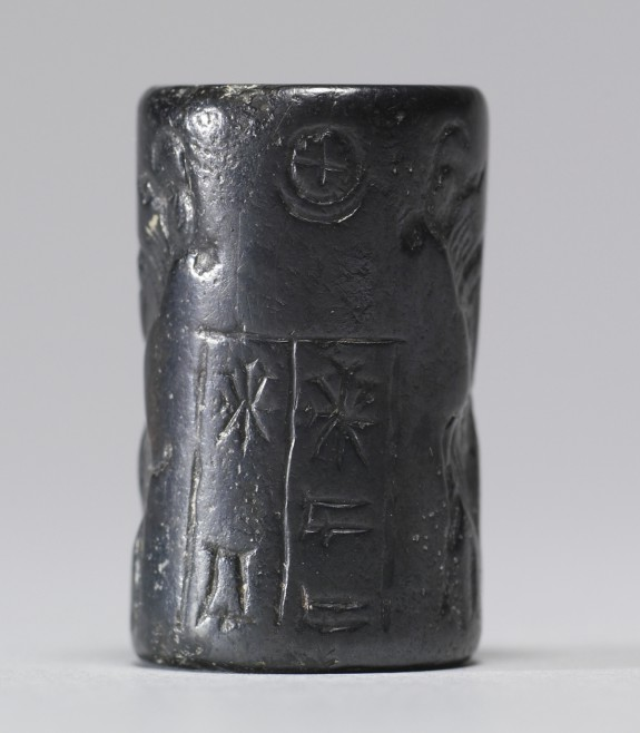 Cylinder Seal with Animals on Hind Legs