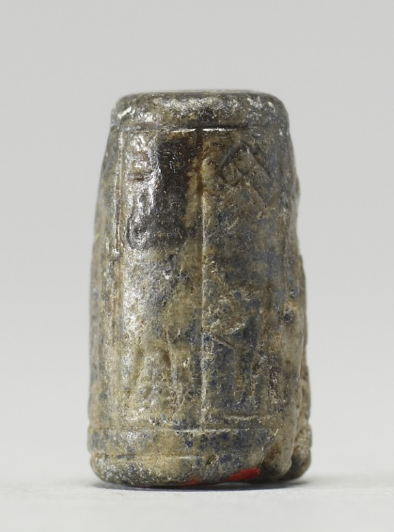 Cylinder Seal with Figures and an Inscription