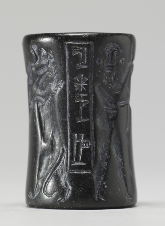 Cylinder Seal with a Nude Hero