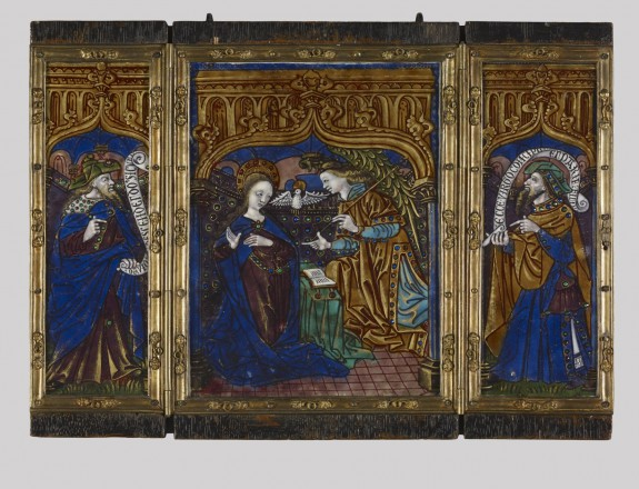 Triptych: Annunciation with the Prophets David and Isaiah
