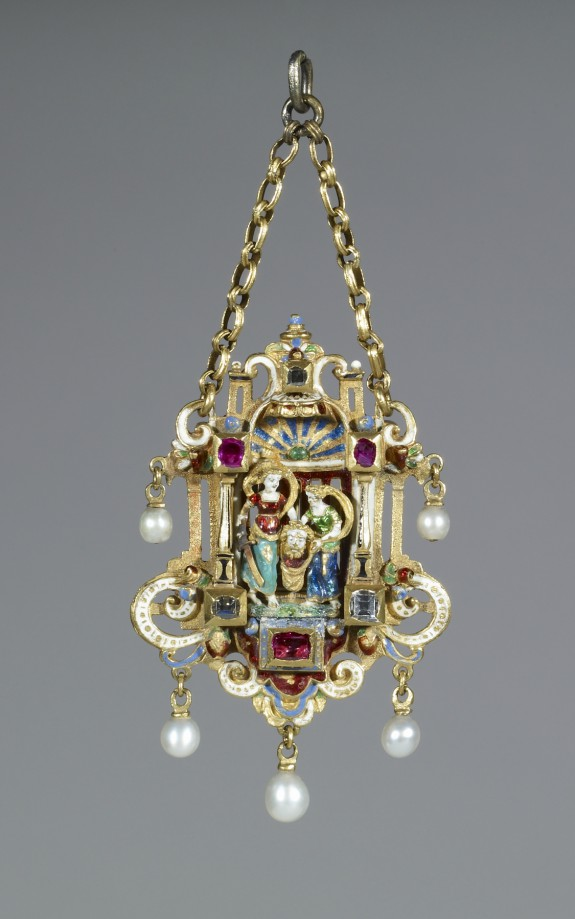 Renaissance-Style Pendant with Judith Holding the Head of Holofernes