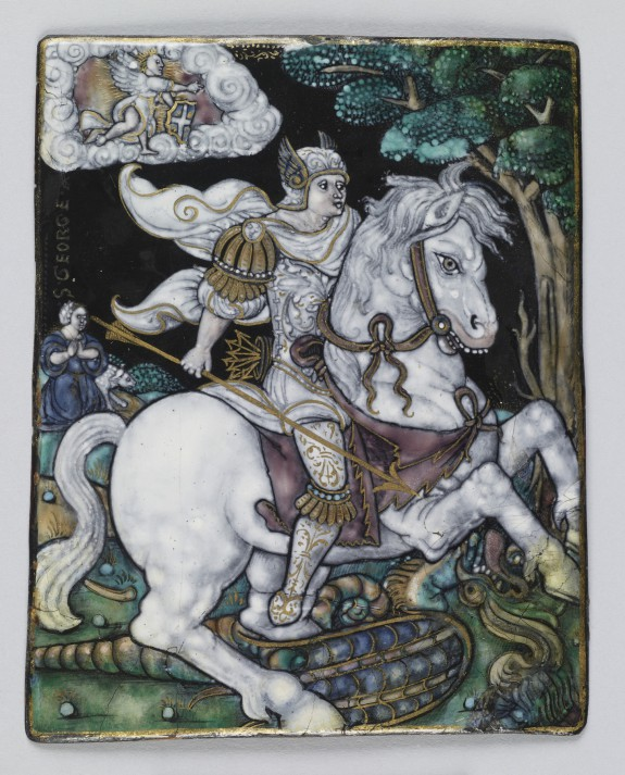 Plaque with Saint George Slaying the Dragon