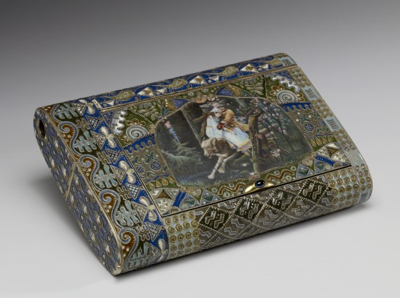 Cigar Box with Miniature: Ivan Trsarevich, the Fire Bird and the Grey Wolf