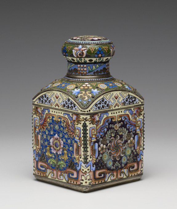 Coffee Caddy with Chinese-inspired Decoration