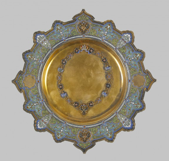 Presentation Plate with Crown and Cross of Saint Andrew