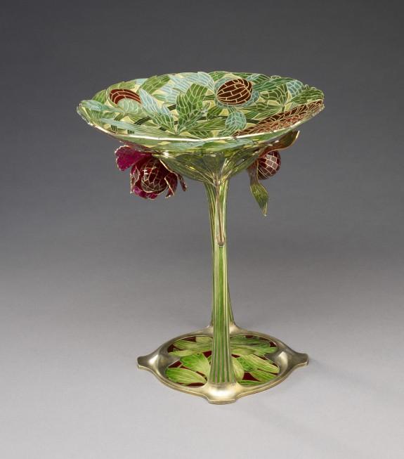 Art Nouveau Dish with Stem