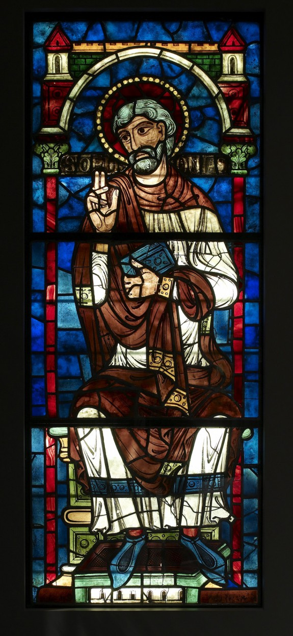 Stained Glass Window with Ancestor of Christ