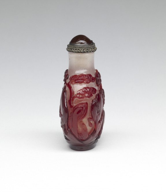 Snuff Bottle with a Horse in a Landscape