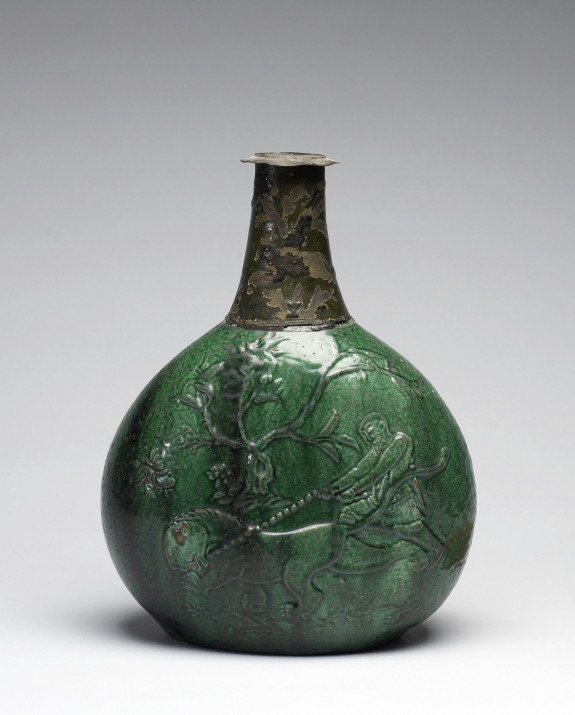 Vase with a Chinese Lion and a Bearded Man