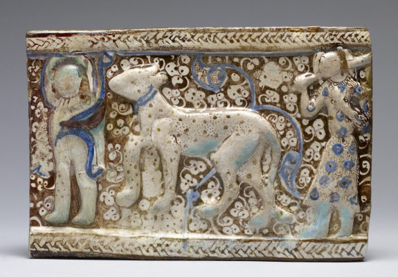 Fritware Tile from a Frieze