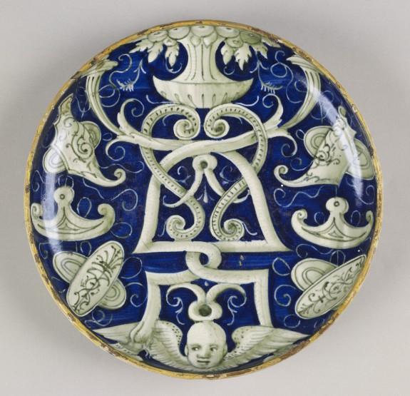 Dish on a Low Foot with an Ornamental Design