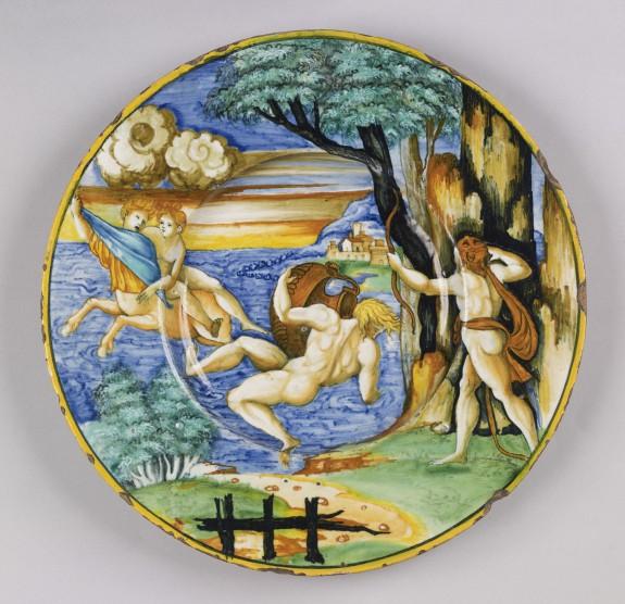 Plate with Hercules, Nessus, and Deianira