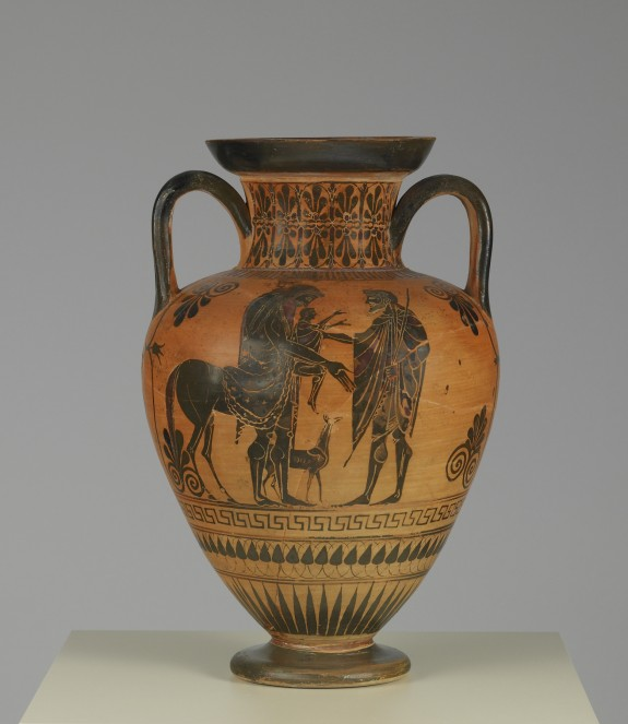 Neck Amphora with Scenes of Peleus, Thetis, and Achilles