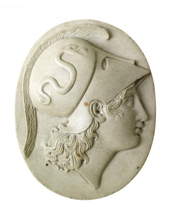 Stoneware Cameo with the Head of Minerva
