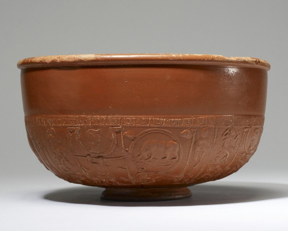 Bowl with Mythological Figures in Relief
