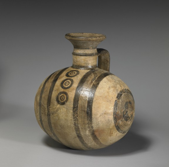 Barrel Jug with Geometric Decoration