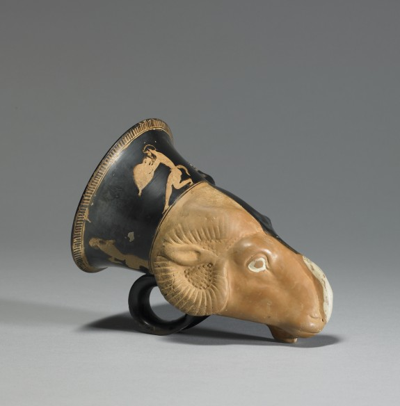 Rhyton in Form of a Dimidiated Donkey and Ram Head