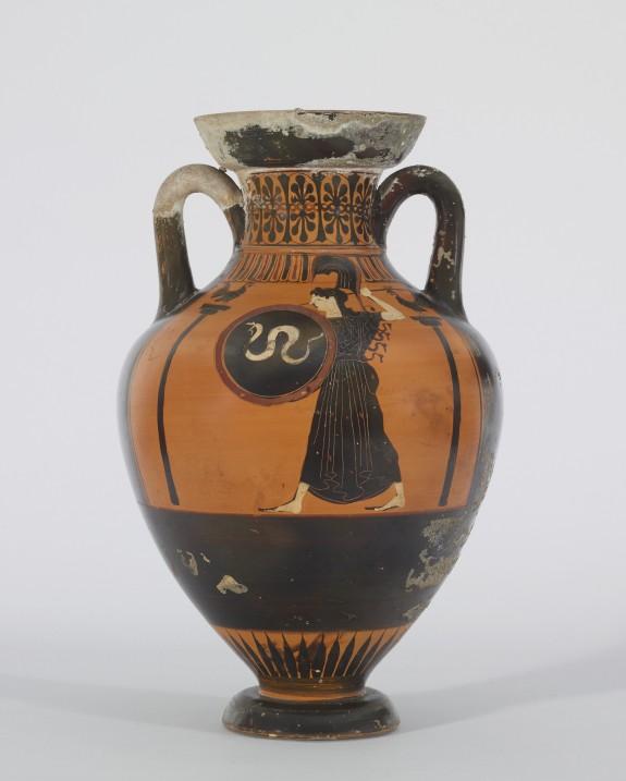 Pseudo-Panathenaic Amphora with Horse Race