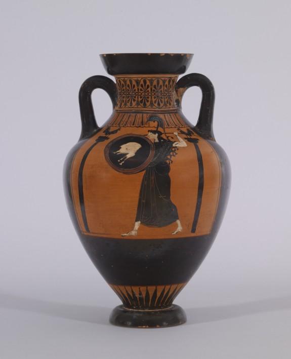 Pseudo-Panathenaic Amphora with Discus Thrower
