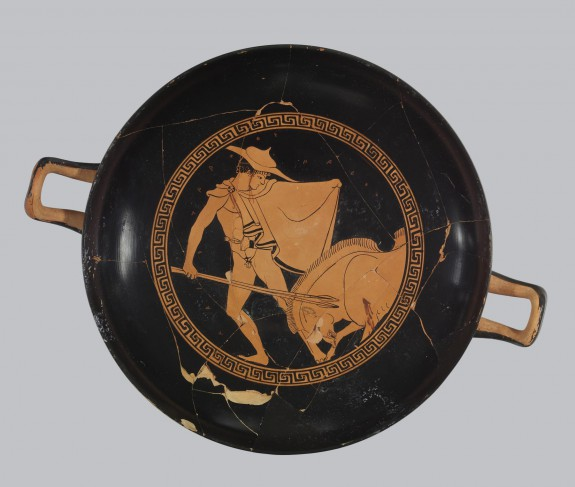 Kylix with Boar Hunting Scene