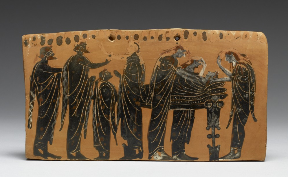 Pinax (Plaque) with Funerary Scene