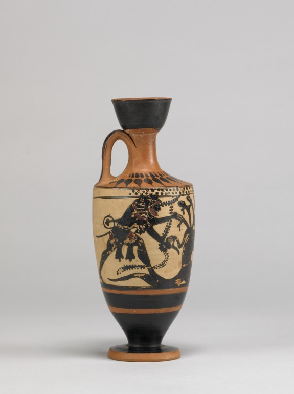 Herakles and Iolaos fighting the Lernaean Hydra