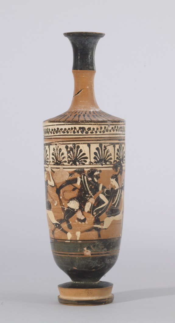 Lekythos with Three Amazons and Herakles